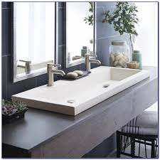 Small Trough Bathroom Sink With Two Faucets by Bathroom Sink Small Trough Sink Bathroom Trough Sink Double