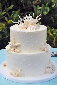 Hawaiian Wedding Cakes Star Fish White Butter Cream Hawaiia Wedidng Cake