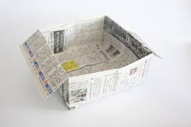 How To Make A Garbage Bag Box With News Paper