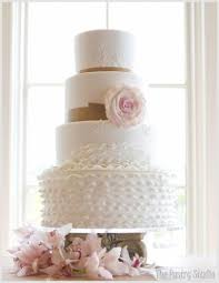 Chic Ruffle Wedding Cakes Cake Design