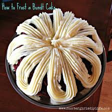How to Frost a Bundt Cake – huntergirlsdiylife