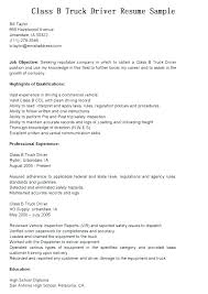 Resume For Truck Driver Templates Drivers Best Of Tow