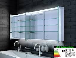 spiegelschrank led breite 140 cm dreitürig lagersortiment