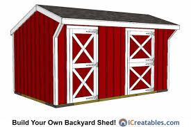 10x16 shed plans diy shed designs backyard lean to gambrel
