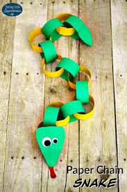 Paper Chain Snake Craft For Kids Crafts