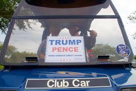 100 Fire Truck Golf Cart Florida Retirees Trick Out Golf Carts For Trump CBS News