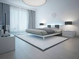 schlafzimmer interieur im minimalistischen stil graue wände