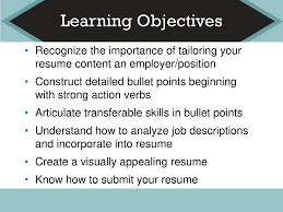 Learning Objectives Recognize The Importance Of Tailoring ... Ppt Tips On English Resume Writing Interview Skills Esthetician Example And Guide For 2019 Learning Objectives Recognize The Importance Of Tailoring Latest Journalism Cover Letter To Design Order Of Importance Job Vacancy Seafarers Board Get An With Best Pharmacy Samples Format Sample For Student Teaching Freshers Busn313 Assignment R18m1 Wk 5 How Important Is A Personal Trainer No Experience Unique An Resume Reeracoen