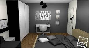 chambre gris noir et blanc deco noir blanc gris amazing dcoration decoration chambre moderne