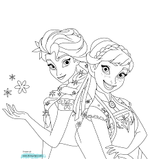 Anna And Elsa In Frozen Fever Coloring Page