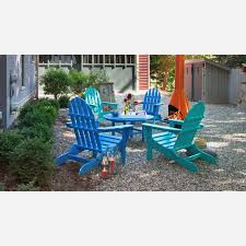 Navy Blue Adirondack Chairs Plastic by 100 Polywood Modern Folding Adirondack Chair Polywood