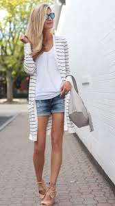 summer ideas with a long striped cardigan styled 3 ways