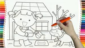 Learning How To Draw Baby And Puppy Colorful For Kids