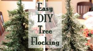 Create One Ingredient Fake Snow For Christmas Trees With Spackle