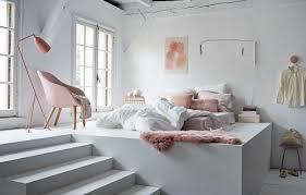 chambre grise et poudré chambre et blanche poudre noir gris deco fille ado decoration