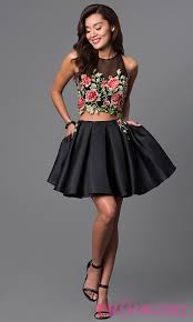 unique print prom and semi formal dresses promgirl