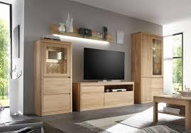 wohnwand modern eiche wohnzimmer ideen eiche wohnwand