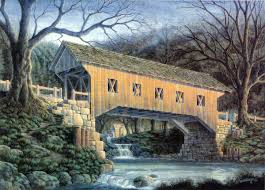 100 Sleepy Hollow House Details About Halloween Autumn Covered Bridge Grist Mill Art SIGNED By Souders