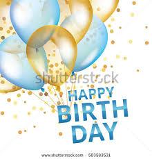 Balloons happy birthday Gold blue balloons background Happiness Birth day Happy Birthday backdrop