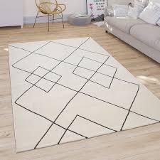 teppich wohnzimmer modernes skandi rauten muster kurzflor