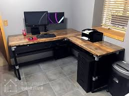 Diy Under Desk Cpu Holder by Diy Laminate Flooring Table Top Desk Simplified Building With