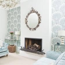 Elegant Living Room Feature Wallpaper