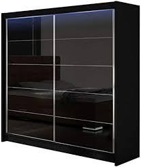 modernes kleiderschrank falco i schlafzimmerschrank schiebetürenschrank hochglanz garderobe schlafzimmer schwebetürenschrank schwarz schwarz