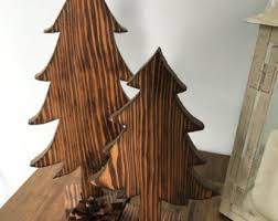 Wooden Pine Tree Cutout Rustic Decor Simple Home Decoration