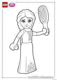 Rapunzel Close Up Lego Disney Coloring Pages Printable And Book To Print For Free Find More Online Kids Adults Of