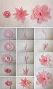 Diy Wedding Crafts Paper Flower Wall Backdrop