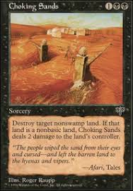 black land destruction vintage mtg deck