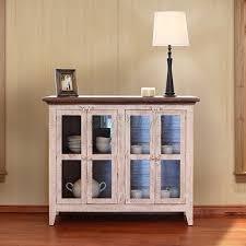 International Furniture Direct 926 Antique White Console