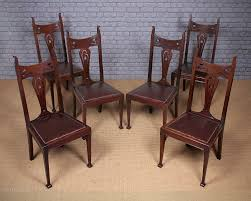 Set Of Six Art Nouveau Dining Chairs C.1890. - Antiques Atlas Set Of 8 Vintage Midcentury Art Nouveau Style Boho Chic Italian Stunning Of Six Inlaid Mahogany High Back Chairs 2 Pair In Antiques Atlas Lhcy Solid Wood Ding Chair Armchair Lounge Nordic Style A Oak Set With Table Seven Chairs And A Side Ding Suite Extension Table France Side In Leather Chairish Gauthierpoinsignon French By Gauthier Louis Majorelle Caned An Edouard Diot Art Nouveau Walnut And Brass Ding Table Four 1930s American Classical Shieldback 4