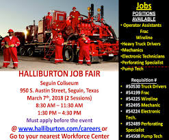Halliburton Job Fair In San Antonio Tx -|- Nemetas.aufgegabelt.info Coastal Transport Co Inc Home Chuck Nash San Marcos Your Austin Antonio Tx Chevrolet How Much Can Truck Drivers Make Why Are There So Many Available Trucking Jobs Roadmaster Ex Truckers Getting Back Into Need Experience Heartland Express Local In Tx Best Image Kusaboshicom Driver Georgia Shortage Cotrains Booming Texas Oil Fields Millions Of Professional Will Be Replaced By Selfdriving 2018 Tdc Photos Cspsar