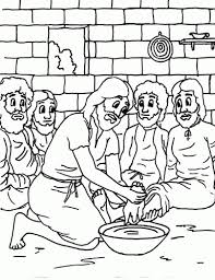 Wonderful Ideas Jesus Washes The Disciples Feet Coloring Page