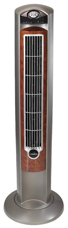 Lasko Wind Curve Nighttime Setting Tower Fan with Remote Control, Silverwood by VM Express