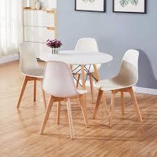 Esszimmer Verschiedene Stã Hle Goldfan Esstisch Mit 4 Stühlen Essgrupp Runder Tisch Und Weißer Stuhl Esstisch Set Für Wohnzimmer Küche Usw 80cm