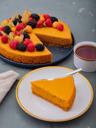 rezept kürbiskuchen mit keks amarettini boden und