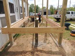 Floor Joist Bracing Spacing by How To Build A Deck Or Porch With A Roof U2026part 2 Roses And Wrenches