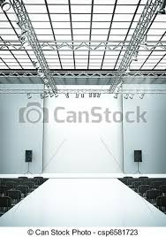 Drawings Of Catwalk Empty Fashion Show Stage With Runway 3d Regard To Clipart