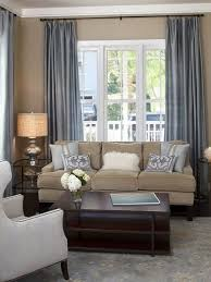 living room white slate blue and brown color scheme