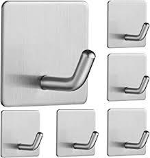 haken selbstklebend 6 stück ohne bohren edelstahl wandhaken selbstklebend klebehaken bad und handtuchhalter küche wasserdicht für küche badezimmer