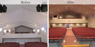 Before After Church Exterior Lighting Recessed