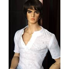 BJD Doll Handsome Boy Male 19 Tall Resin Unpainted Body Eyes
