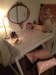 Bathroom Vanity With Built In Makeup Area by Stolen From Reddit This Is Beautiful Made Out Of Pallets Though