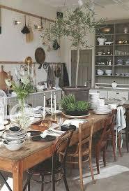it esszimmer landhausstil haus küchen massivholzküchen