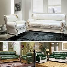 oxford leder couchgarnitur im englischen design mit schlaffunktion 2 sessel