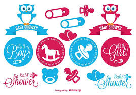 Baby Shower Logo by Baby Shower Elements Set Download Free Vector Art Stock