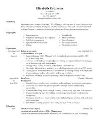 Resume Samples For Office Manager Tips Assistant Sample Construction Company