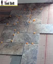 6 X 24 Wall Tile Layout by Silver Travertine Tile Herringbone Floor Tutorial Her Tool Belt